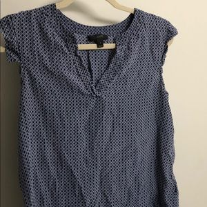 Jcrew Sleeveless Blue Blouse